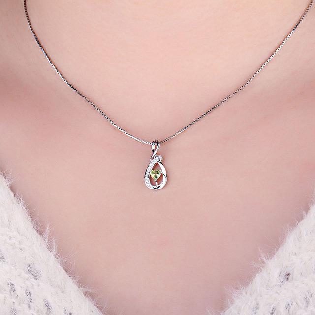 Infinity Love Heart Peridot Pendant