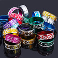 100pcs Lots Wholesale Jewelry Bulk Mixed Colour Size Aluminum Rings For Women Men Anel Party Fashion Jewelry