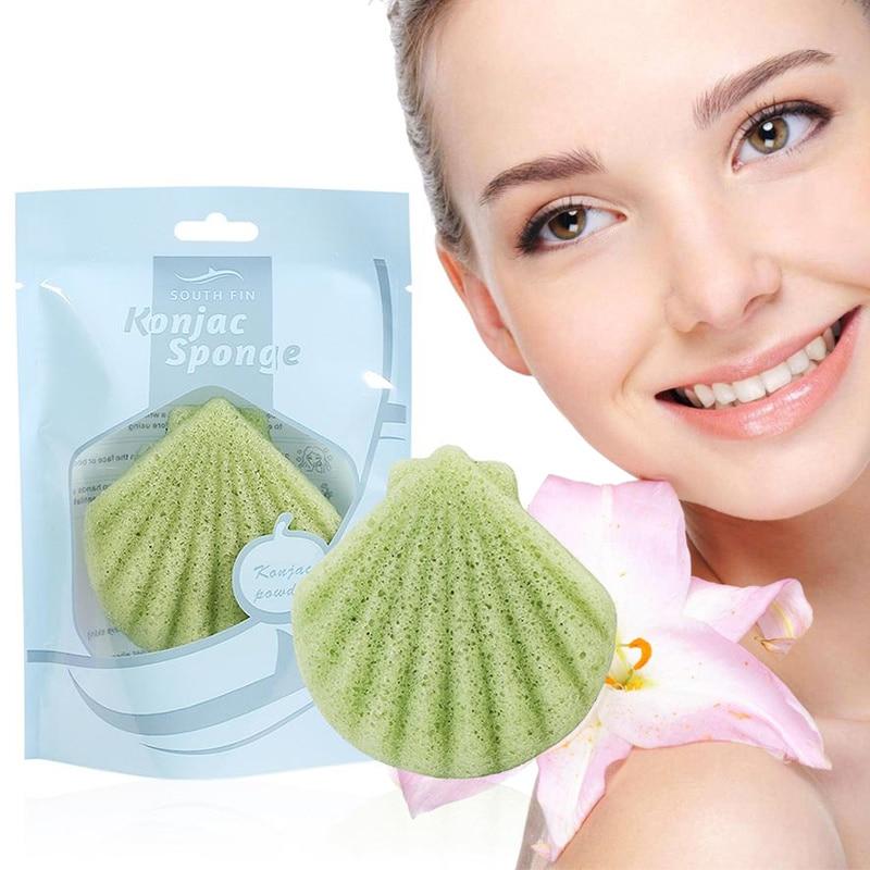 Concienzudo Verano 1 Piezas Konjac Puff Cosmético De Limpiador De Esponja De Maquillaje Facial Herramienta De Limpieza Liso Esencial Bebé Suave No-irritante Natural
