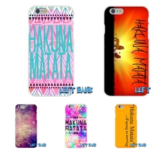 For Samsung Galaxy A3 A5 A7 J1 J2 J3 J5 J7 2016 2017 Enjoy Lion King Hakuna Matata Soft Silicone TPU Transparent Cover Case