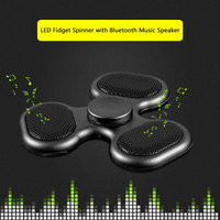 Supology Anti Stress Cool Fidget Spinner TF Card Bluetooth Speaker EDC Toys Hand Spinner Tri Spinners