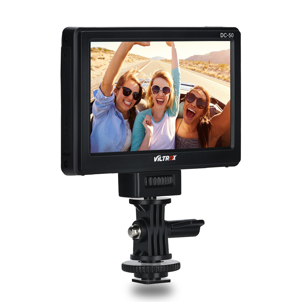Viltrox DC-50 Portable 5'' HD Clip-on LCD HDMI AV Camera Video Monitor for Canon Nikon Pentax Sony A7 A7SII A6500 A6300 DSLR portable viltrox dc 50 clip on camera monitor 5 tft lcd monitor with hdmi video input for canon nikon sony dsrl cameras dv