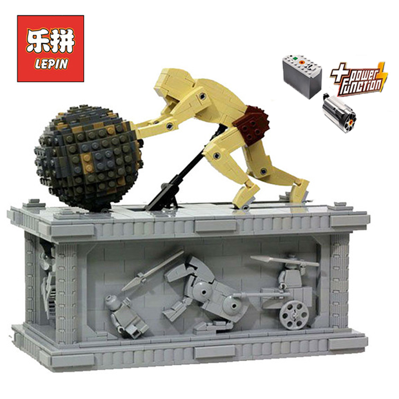 In Stock Lepin Sets 23017 1462Pcs Technic MOC Figures Sisyphus Kinetic Sculpture Model Building Kits Blocks Bricks Kids Toy Gift new lepin 23017 1462pcs movie series moc le mythe de sisyphe building blocks bricks to holiday toys gift