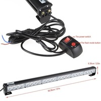 27 24 Blue LED Car Off Road Emergency Beacon Traffic Advisor Strobe Flash Light
