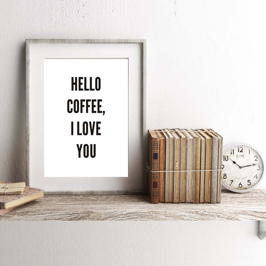 Fashion Wall Art Adorable Sweet Phrases Canvas Paintinglove Coffee Weekend Bed Art Print Inspiration Design
