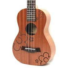 23 Concert Sapele Flower 4 Strings ukulele Hawaii mini small guita travel  acoustic guitar Uke ukelele Free Shipping
