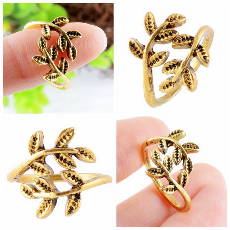 Fashion Leaves Rings For Women Finger Rings Trend Rings Jewelry Open Adjustable Mood Rings Gifts Black Friday 2016