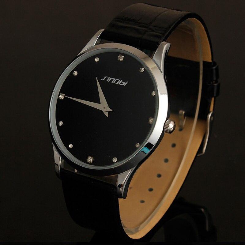 604741777384 2017 las mejores marcas de ultra delgado clásico sinobi correa de cuero relojes  para hombre macho moda militar delgada pulsera de cuarzo relojes reloj en  ...