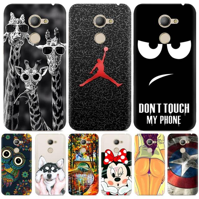 sale retailer 2f864 7bf1b US $2.23 20% OFF|Vodafone Smart N8 Case silicone cover Cool pattern Cute  animal Cartoon soft TPU case for Vodafone Smart N8 VFD610 cover 5.0