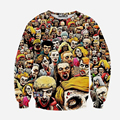 2017 New Fashion European and American popular 3D sweatshirts The Walking Dead printed 3d hoody man women hip hop clothing