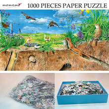 MOMEMO The Temperate Steppe Adult Color Paper Puzzle 1000 Pieces Hand-painted Ecosystem Jigsaw Natural Landscape