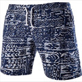 MEBOSYA Men's Beach Shorts Personality Printing 2016 Summer Thin Section Breathable Comfort Casual Men's Linen Shorts Large Size