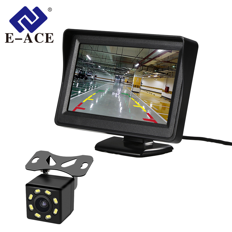 E-ACE Monitors Lcd-Screen Parking-Line Rear-View-Camera Reversing-Safety J01 With TFT