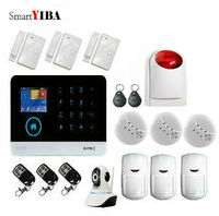 SmartYIBA WIFI APP Control Wireless Surveilance GSM Security Alarm System DIY Kits IP Camera For Home