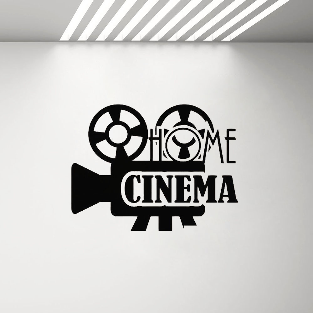 Home & Garden Professional Sale Home Cinema Wall Decal Movie Film Poster Sticker Theater Sign Playroom Living Room Vinyl Stickers Film Strip Art Mural G422 Wall Stickers
