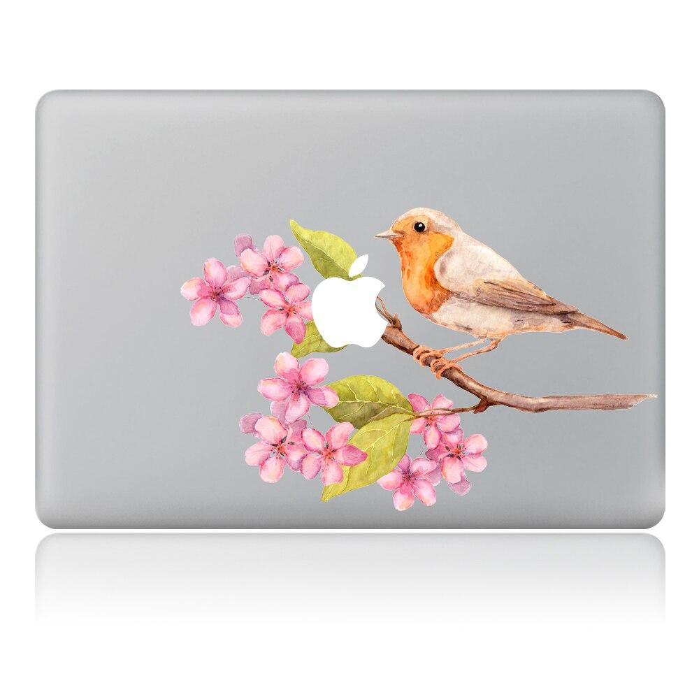 Love birds on the branch Vinyl Decal Laptop Sticker For DIY Macbook Pro Air 11 13 15 inch Laptop Skin