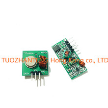 10pcs  Lowest Price!! 433Mhz RF transmitter and receiver kit for Arduino Project Drop Shipping TK0460
