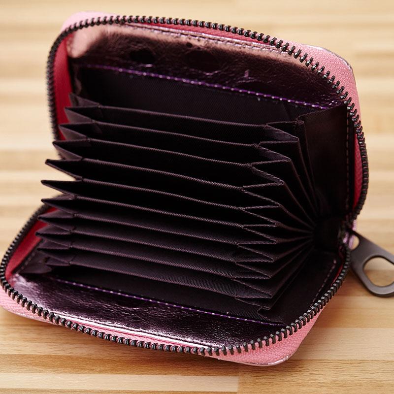Premium Cowhide Leather Geometric Womens Coin Purse 2018 New Arrivals European And American Multi-Card Bit Women Mini Wallets