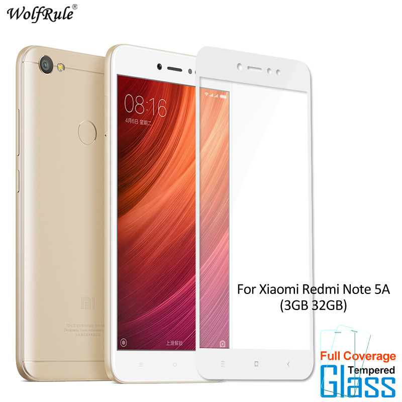 2Pcs For Glass Xiaomi Redmi Note 5A Prime Screen Protector Tempered Glass For Xiaomi Redmi Note 5A Prime Glass Full Phone Film