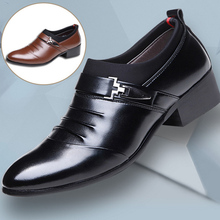 Men Dress Shoes Pointed Toe Slip-On