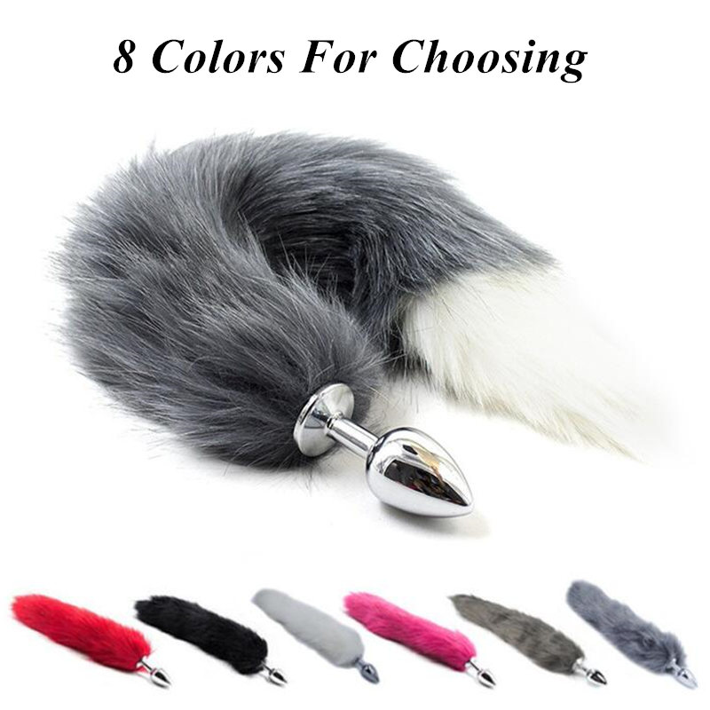 Sporting 8 Colors Faux Fox Tail Anal Plug Stainless Steel Metal Butt Plug Adult Sex Toys Women Cosplay Erotic Accessories For Couples Home