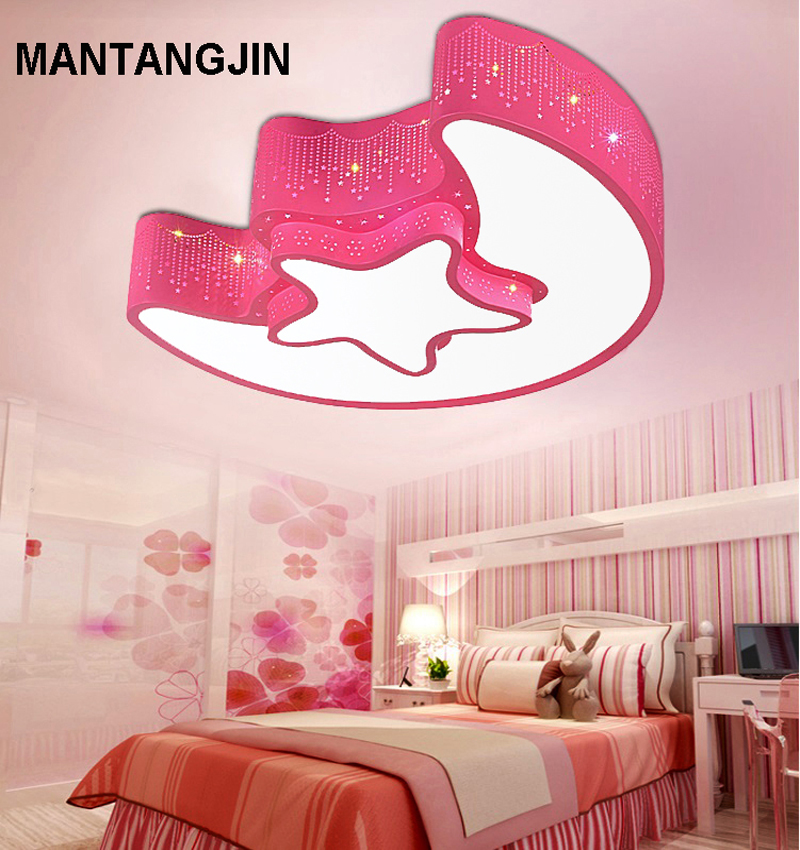 Led Ceiling Lights Child Kids Girls Bedroom Lighting Lamp Moon ...