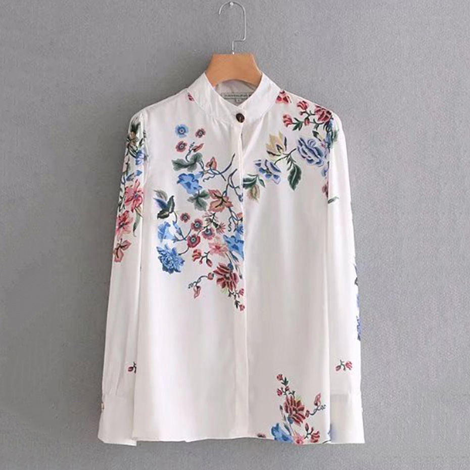 women shirt embroidery blouse Beautiful floral butterfly ...