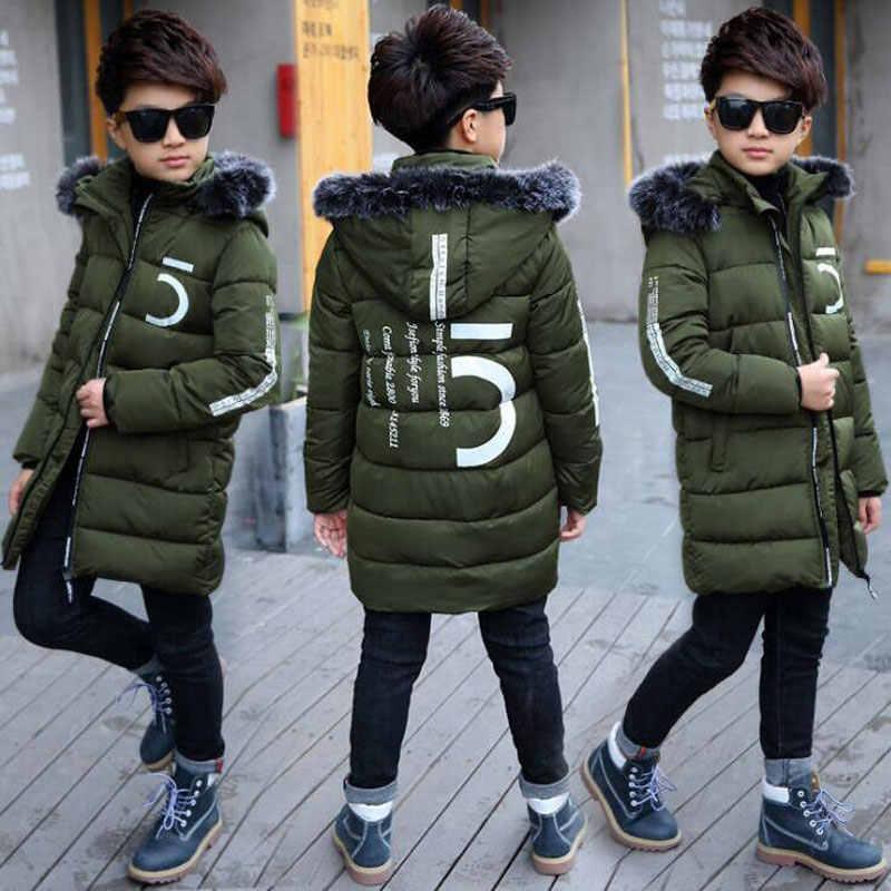 6b5ebe265187 Boy Jacket 12 Children s Clothing 13 Boys 14 Winter Clothing 15 Jacket 2018  New Thick Cotton