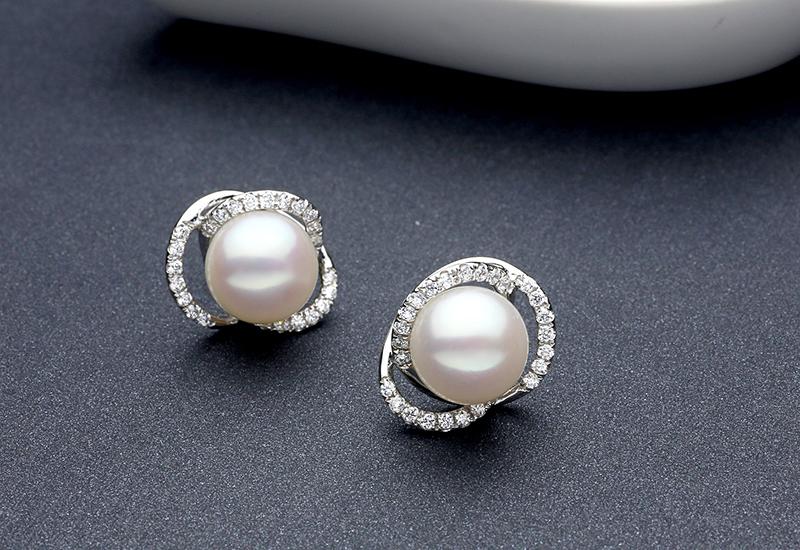 TZ10121WE sinya silver pearl earring 2