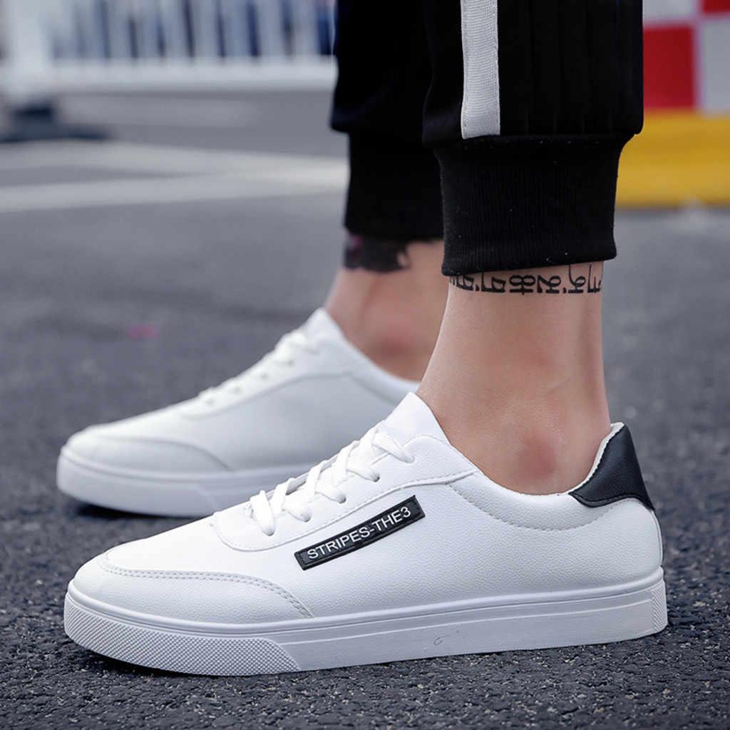2019 beyaz spor ayakkabı Sneakers erkekler basit tarzı rahat ayakkabılar erkekler rahat moda Masculino Adulto Sneakers