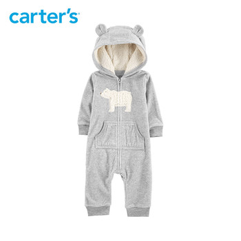 049f7b86760a Rompers hooded fleece jumpsuit - shop and tic