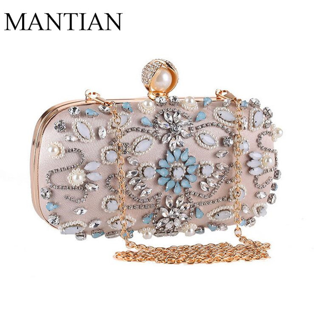 Evening Bags For Women Fashion Designer Crystals Beaded Day Clutch New Party Crystal Handbags Clutches
