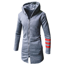 Fashion Male Wool Men Autumn Winter Casual Warm Stripe Zipper Long Sleeve Top Blends Jacket Coat Brand Blends Wool Sexy men cheap Wool Blends Regular Cotton 91417 Broadcloth Polyester Cotton Full Conventional LNCDIS Thick V-Neck None Solid