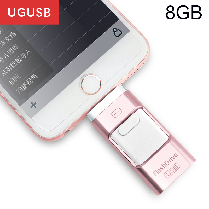 Hot sell Mobile cell phone OTG Android Pen drive Lightning pendrive for Iphone usb memory stick disk 8GB USB flash drive 3.0
