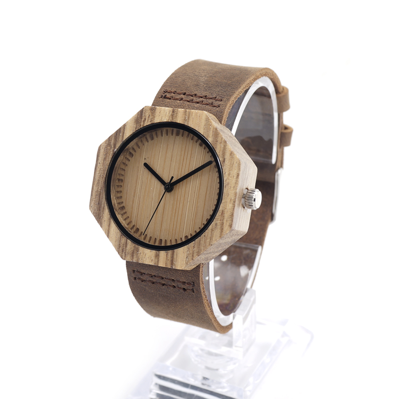 ФОТО BOBO BIRD D02 Luxury Watch Ladies' Bamboo Wood Quartz Watches Real Leather Straps Womens Quartz-Watches Gift Box Dropshipping