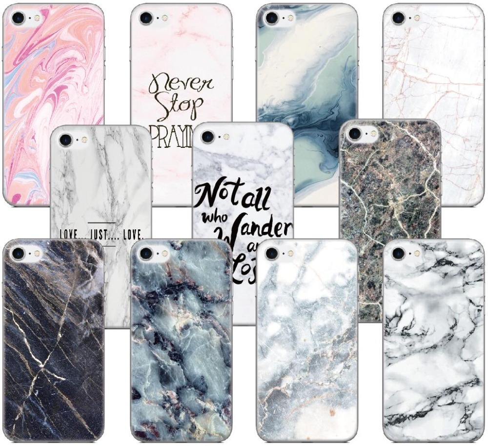 Marble Texture Shell Cover For iphone X 4 4S 5 5S SE 5C 6 6S 7 8 Plus For iPod Touch 5 6 Phone Case Coque Fundas Capa Bumper