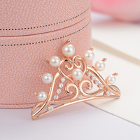 gNpearl Crown Freshwater Pearls Brooch 925 Sterling Silver High grade natural Elegance pearl Brooch Sweater jewelry For Wome