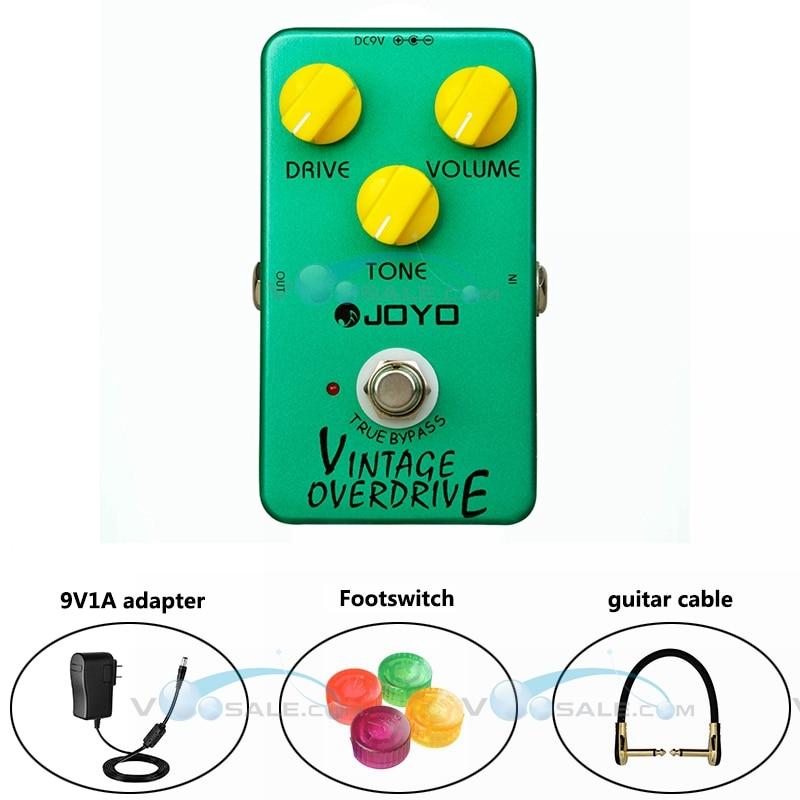 JOYO JF-01 Vintage Overdrive -efektit Kitarapoljin alumiiniseos Kotelo kitara-tarvikkeet, joilla on todellinen ohitus Mini Pedal Effect