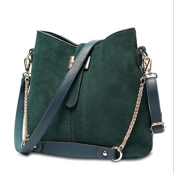 Detail Feedback Questions about Ragccifemale bag bucket bag Europe and the  American vintage style handbag suede bags women shoulder bolsas designer H  buckle ... f068653fd4