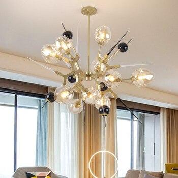 Nordic Magie Bean Molekulare Kronleuchter Gold Moderne Glas Blase Ball Suspension Lampe Für Parlor Esszimmer Kronleuchter G954