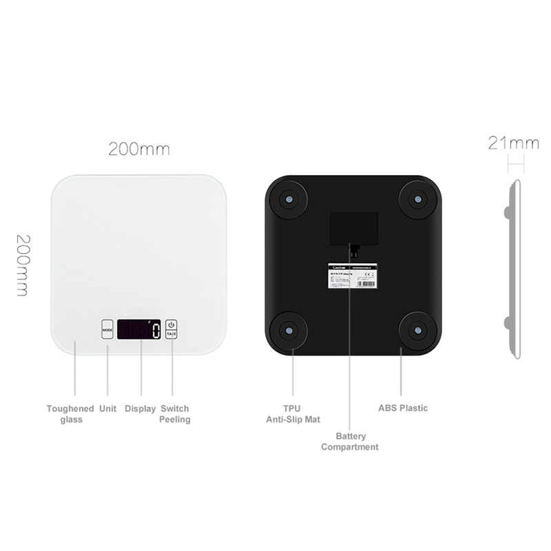 Gason C1 15 kg noir blanc balance numérique électronique alimentaire cuisine balance poids ménage balances steelyard 1g gramme table outils