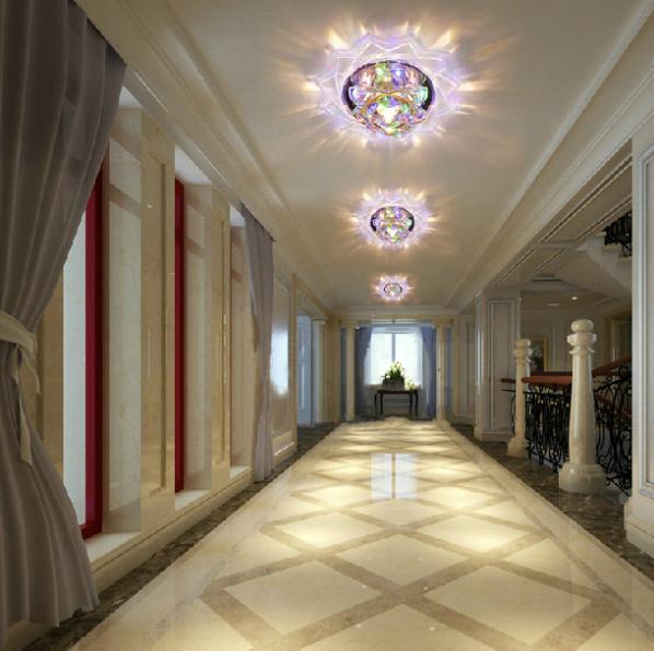 3W bedroom corridor light crystal living room light ceiling lamp abajur lights indoor lighting AC200-240V