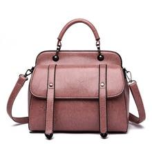 Women Bag 2019 Vintage Handbag Luxury Designer Shopper Tote Messenger Bags Shoulder Top-Handle Purse Wallet Black