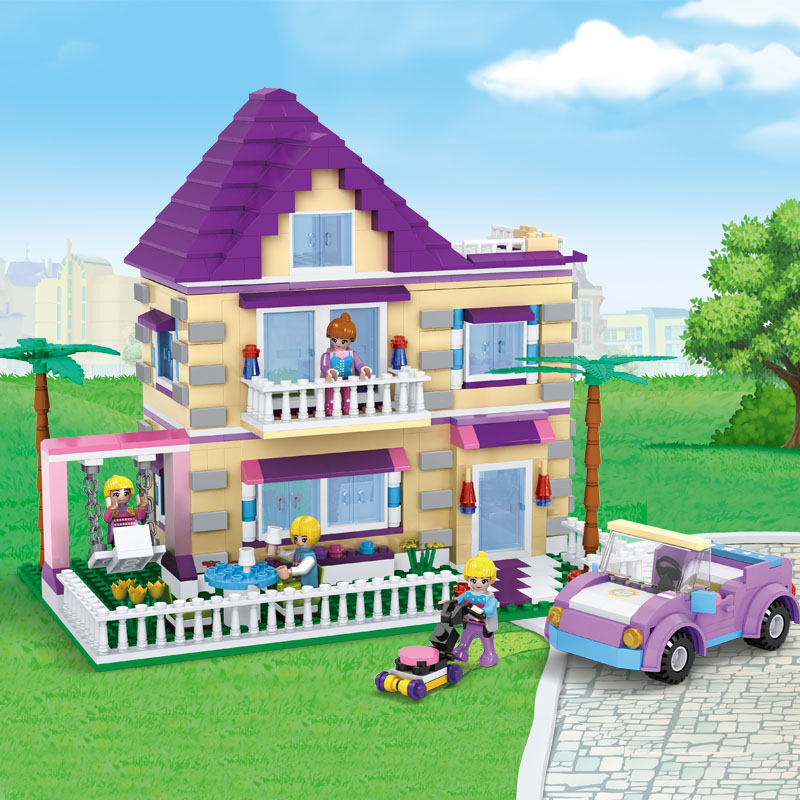 COGO Dream Girls Educational Building Blocks Toys For Children Kids Gifts City Friends Car Flowers House Compatible Legoe diy flowers blocks city blocks bush trees grass leaves flowers pots building blocks brick legoed blocks toys children toys gifts
