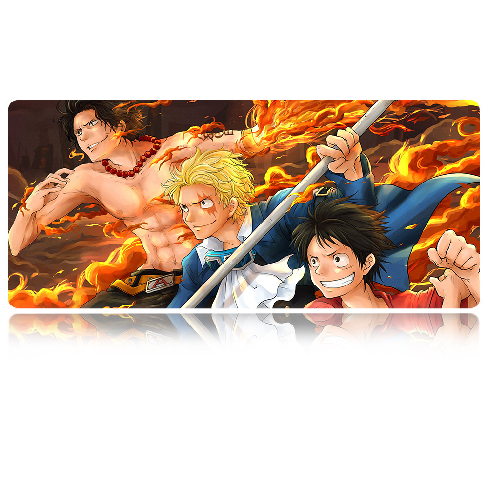 YIMAOC One Piece firefist ace Mouse Pad 30x80 cm Computer Mousepad Anti slip Natural Rubber Gaming Mouse Mat in Mouse Pads from Computer Office