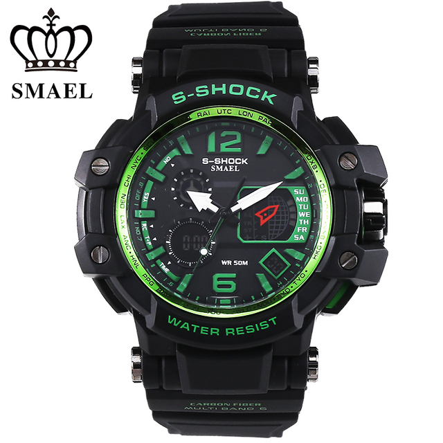 Popular SMAEL Sport Watches Men LED Digital Watch Military S Shock Date Clock Men Top Brand Luxury Wrist Watch relogio WS1509