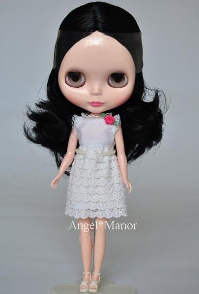 Free shipping Nude Blyth Doll, black1 hair, big eye doll,For Girl's Gift,PJb001 free shipping nude blyth doll black5 hair big eye doll for girl s gift pjb005