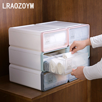LRAOZOYM Storage Drawers Underwear Bra Socks PP Box For Home Organizer Bedroom High Quality Women Love 31.8*24.5*12.2cm LR235