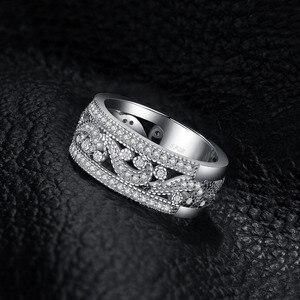 Image 3 - JewelryPalace CZ anillos de boda 925 anillos de plata esterlina para mujeres apilable anillo aniversario anillo eternidad banda joyería de plata 925