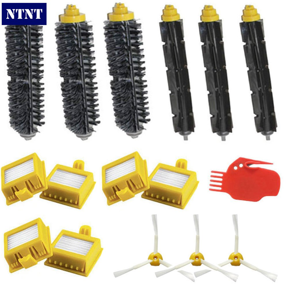 NTNT New For iRobot Roomba Hepa Filters & 3 Armed Brush Clean Tool Pack Kit 700 Series 760 770 780 irobot щетка для scooba 450